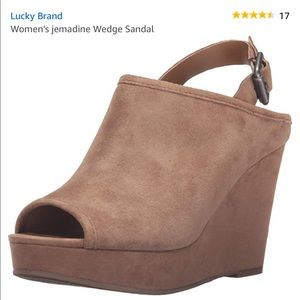 Lucky Brand Suede Heels / 8